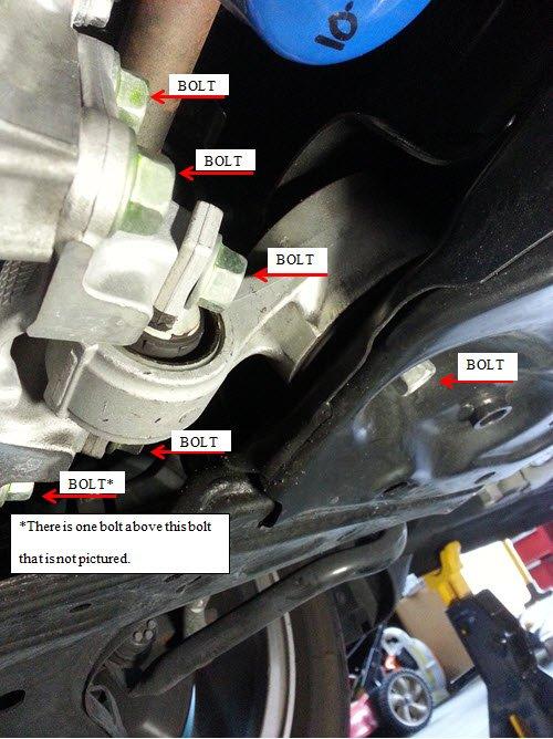 diy  civic  hasport rear motor mount installation