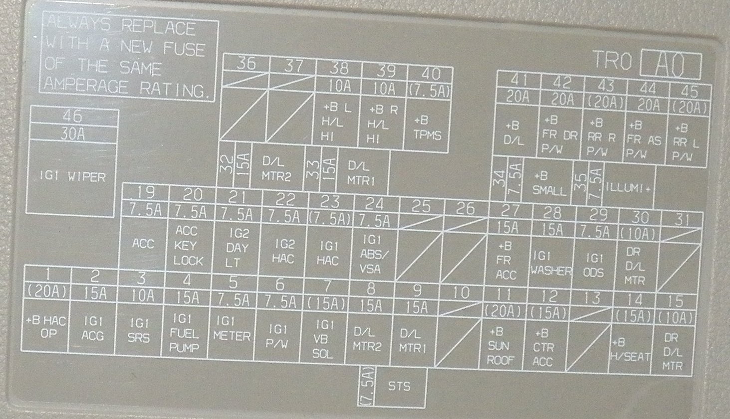 D Diagram Pics Fuse Box on 1996 Honda Passport Wiring Diagram