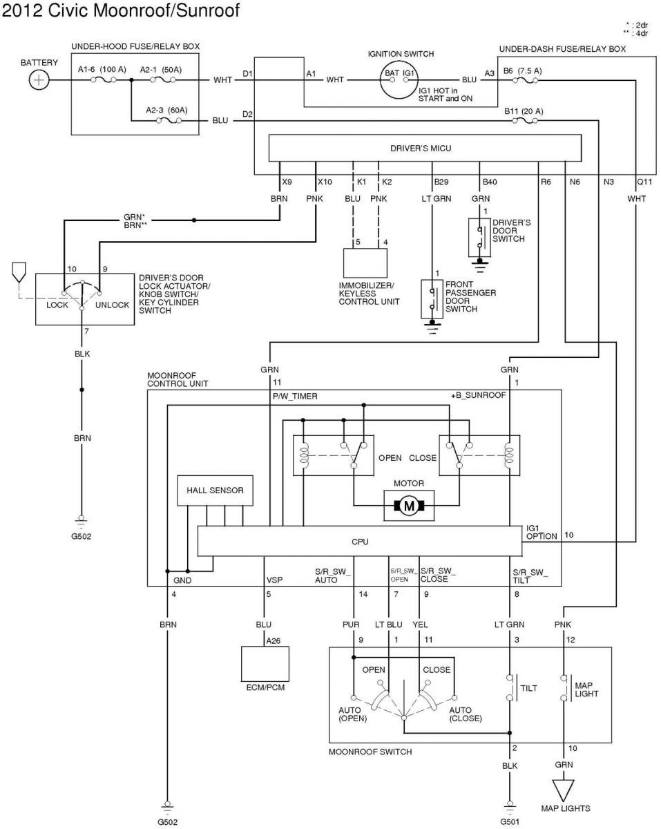 2015 Civic Wiring Diagram Electrical Diagrams Forum 79 Honda All Kind Of For Sunroof On Odyssey 48 Radio