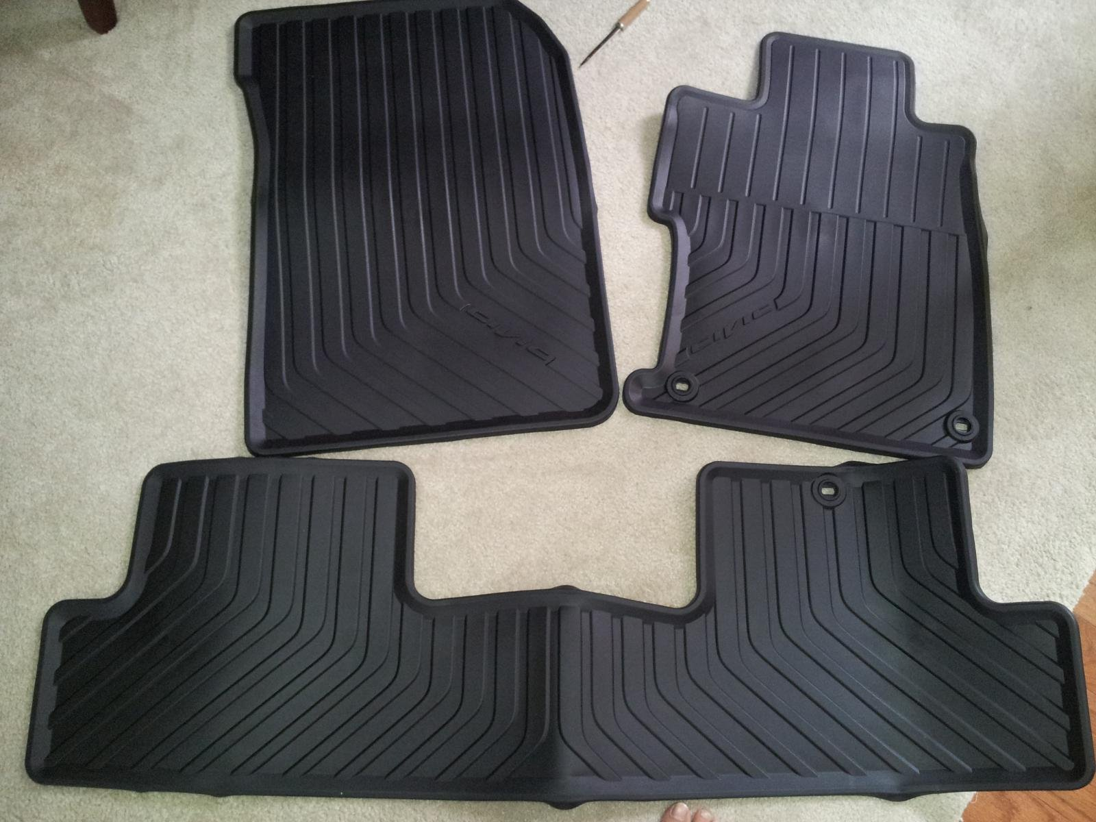 Honda Civic Si. Weathertech Or OEM All Weather Floor Mats?