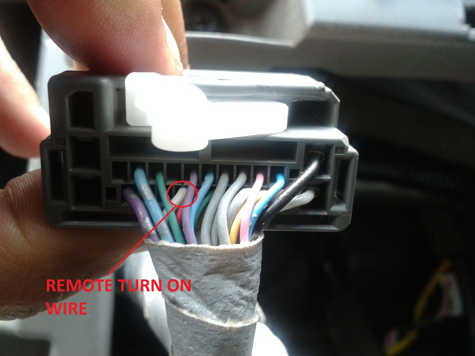 Code Wires Of Premium Audio Headunit For A Civic Ex Coupe