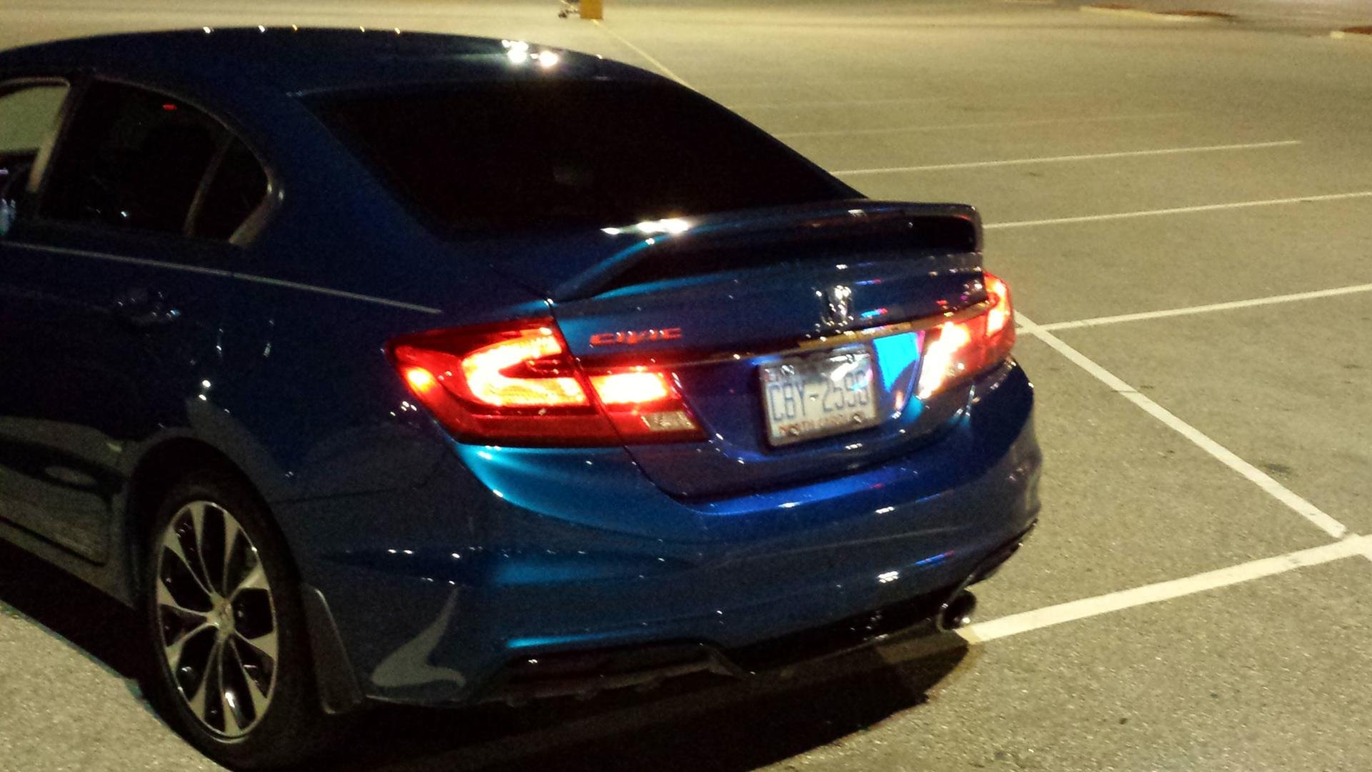 Sedan Red Tail Light Overlays Amp Civic Decal
