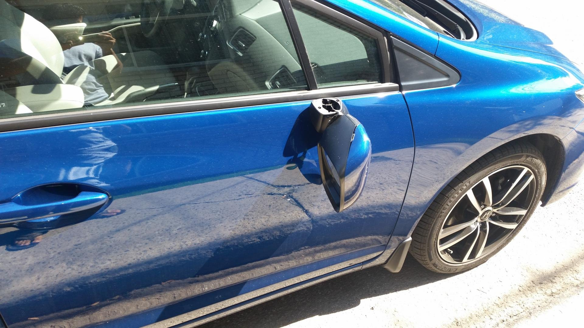 Base Of Side Mirror Assembly   How To ? 2014 Civic Sedan  CDN 20150911_131441  ...