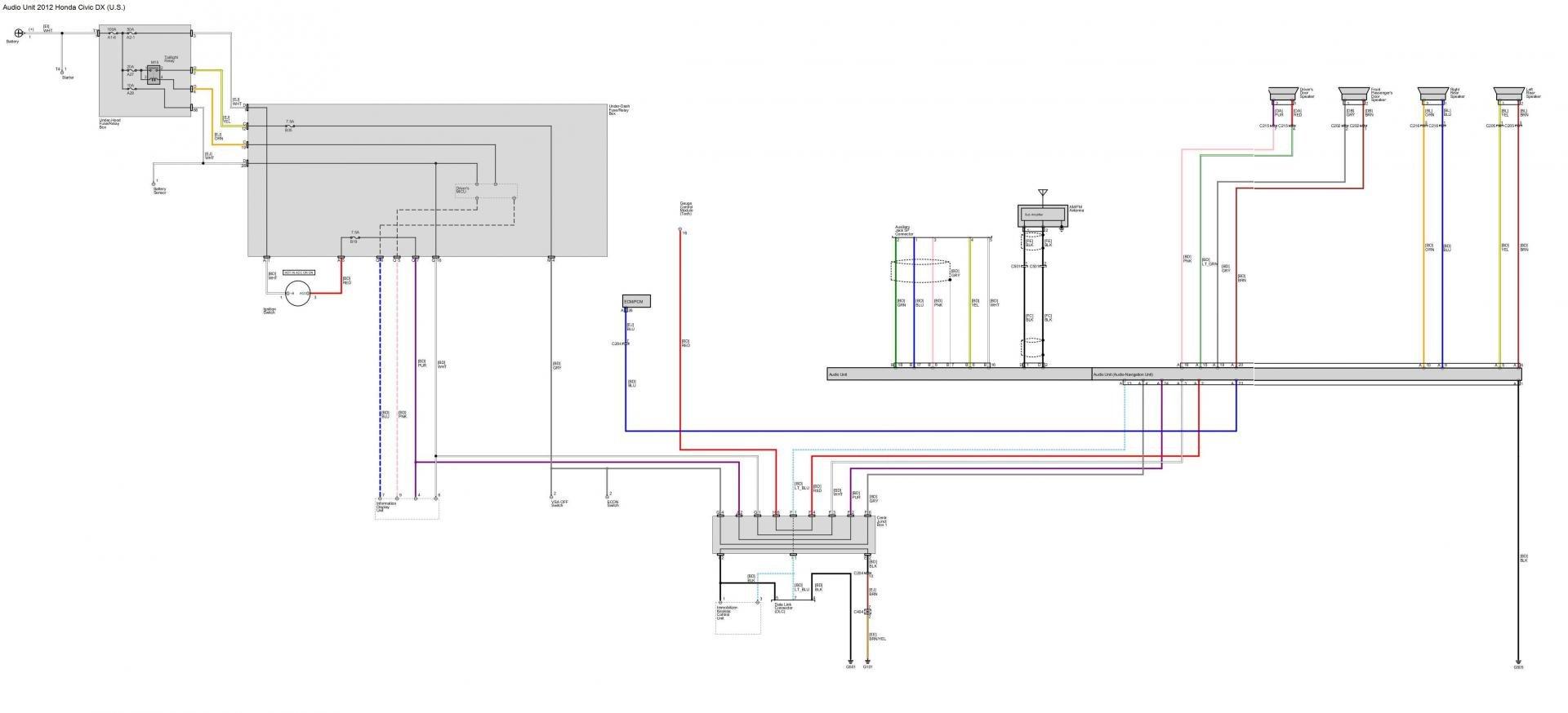 Audio Wiring Diagrams Post Em If You Got Em 9th Gen Civic Forum