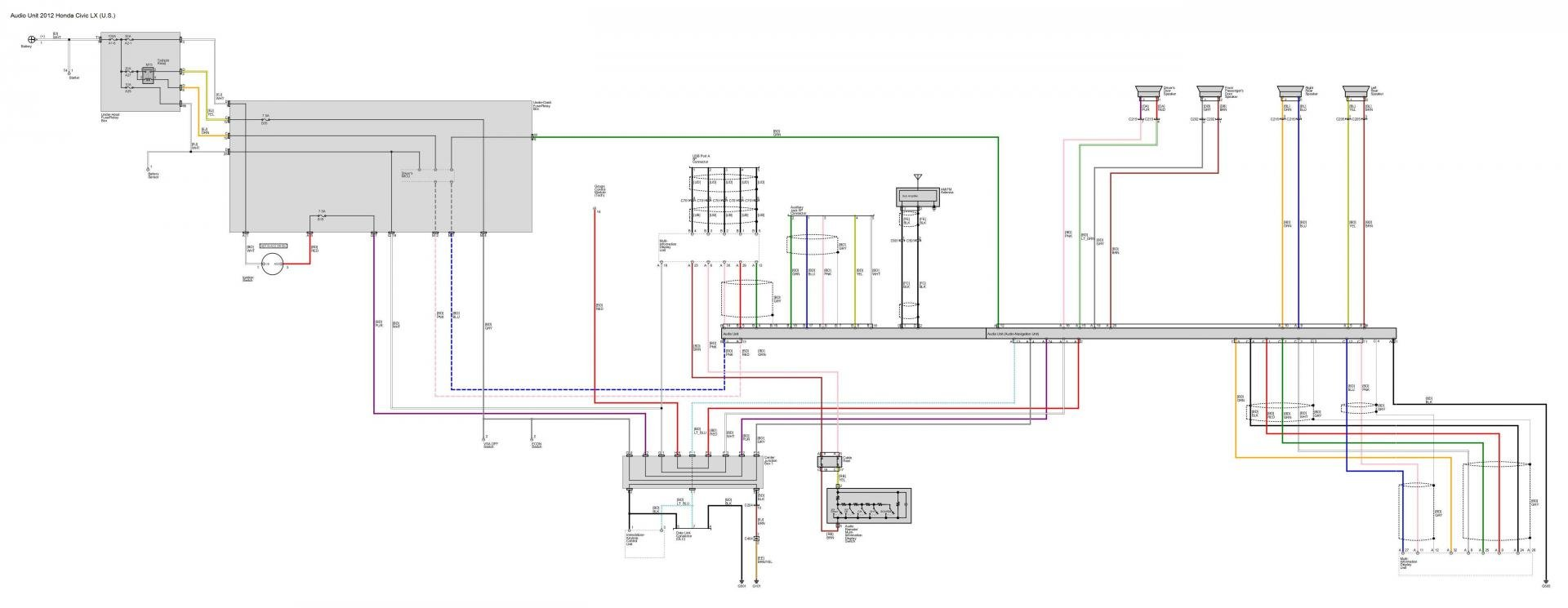 audio wiring diagrams post \u0027em if you got \u0027em 2004 honda civic radio wiring diagram 2012 honda civic wiring wiring library