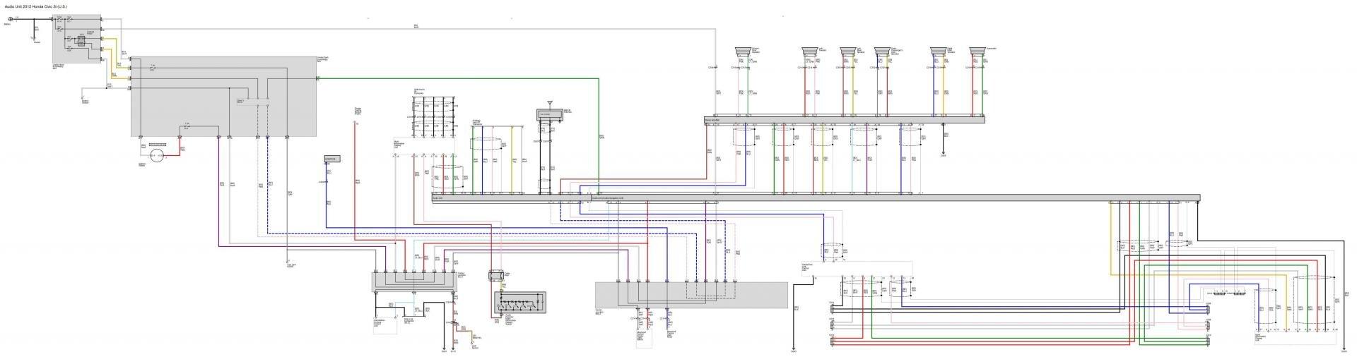 2012 Civic Wiring Diagram Worksheet And Honda Stereo Audio Diagrams Post Em If You Got Rh 9thgencivic Com Radio