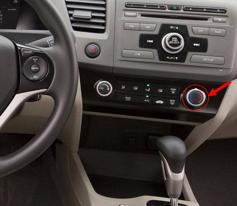 How does keeping the A/C on low intensity vs. high intensity affect mileage?-honda-civic_-2012-1600-09.jpg