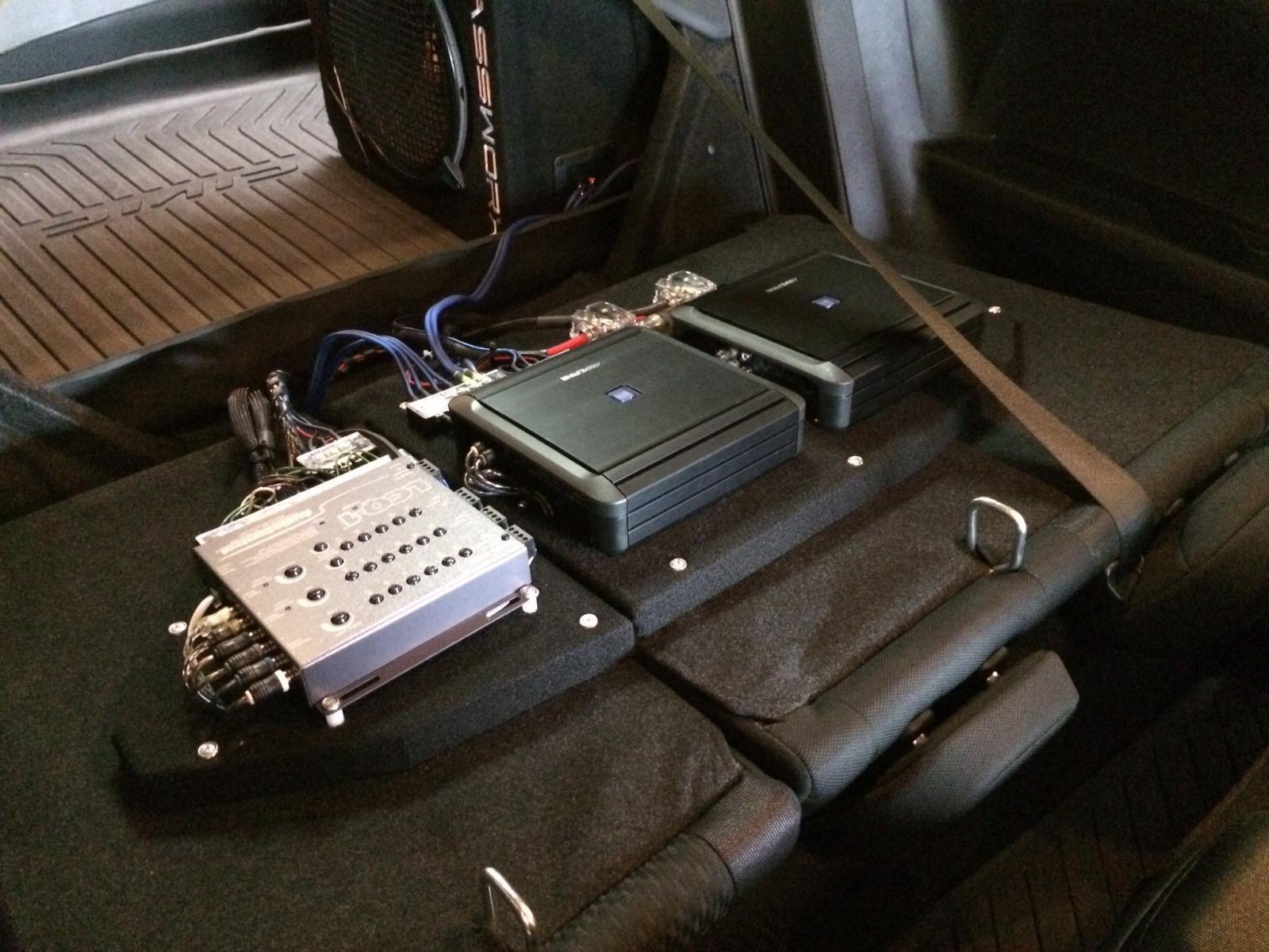 Rear Seat Back Amp Rack