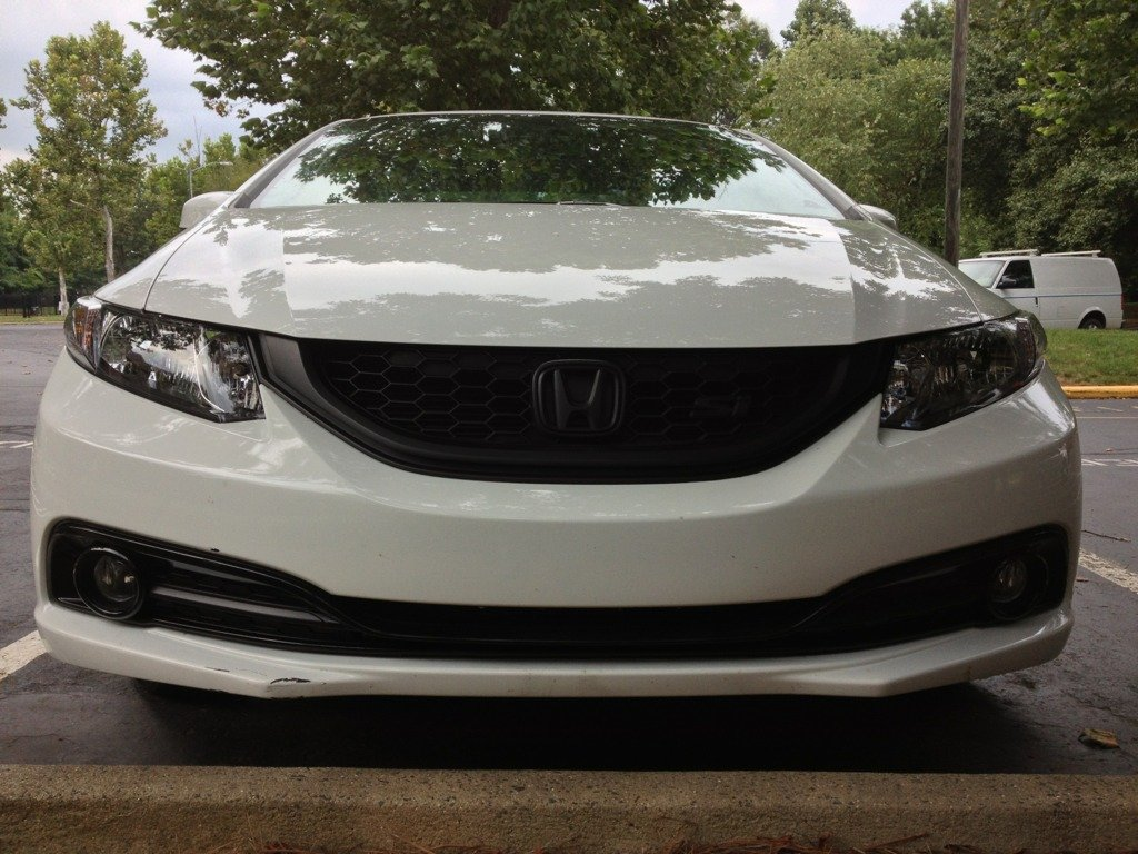 Displaying 17> Images For - White Blacked Out Honda Civic...