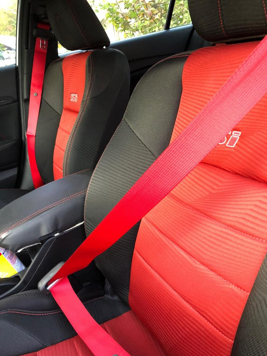 Red Car Seat Belts