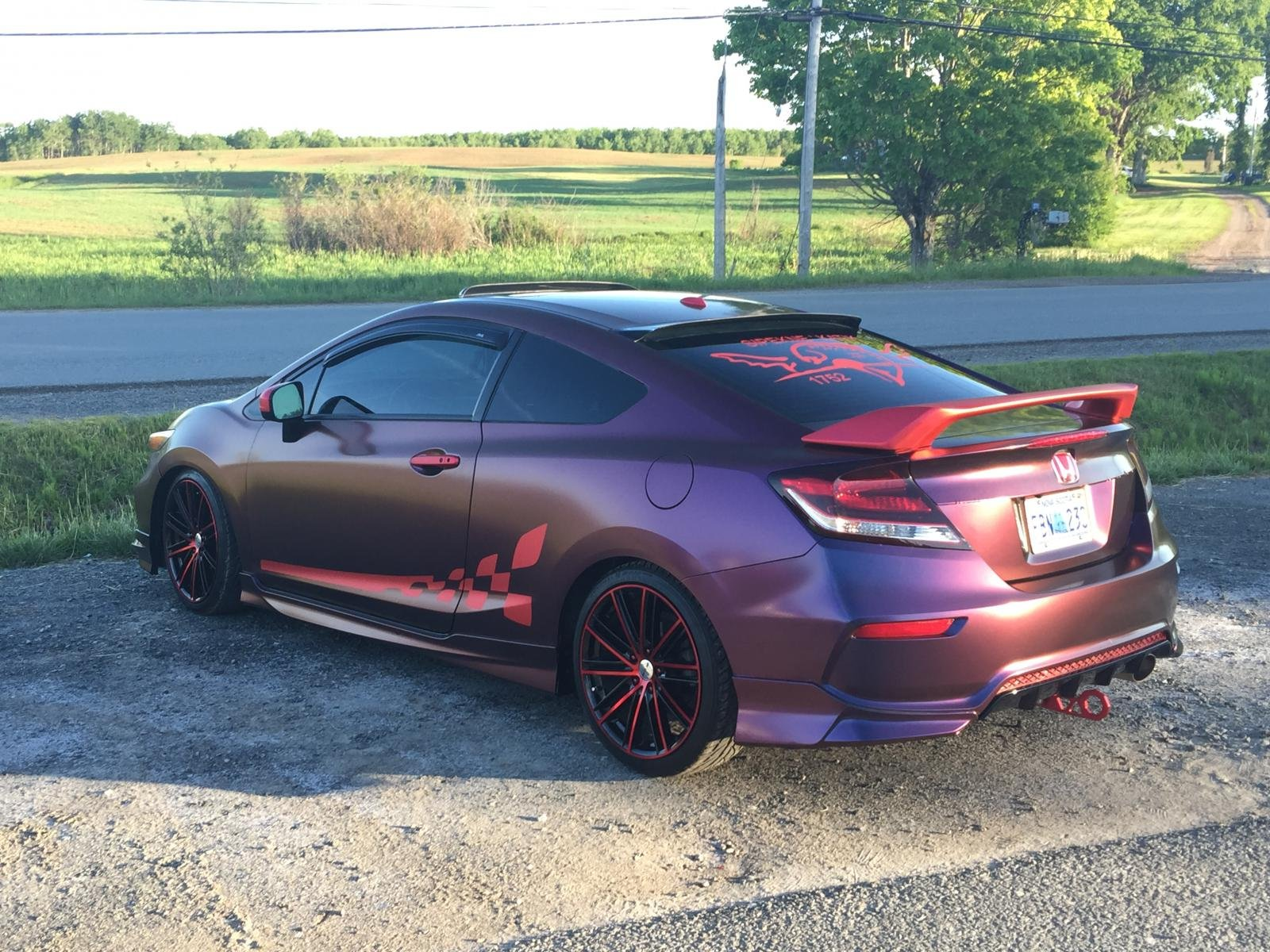 2014 honda civic si 4 toned chameleon wrap. Black Bedroom Furniture Sets. Home Design Ideas
