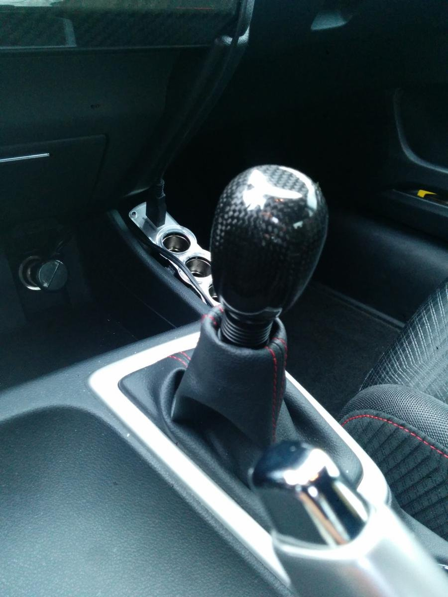 2013 Civic Si Sedan Crystal Black Tint Shift Knob Mugen