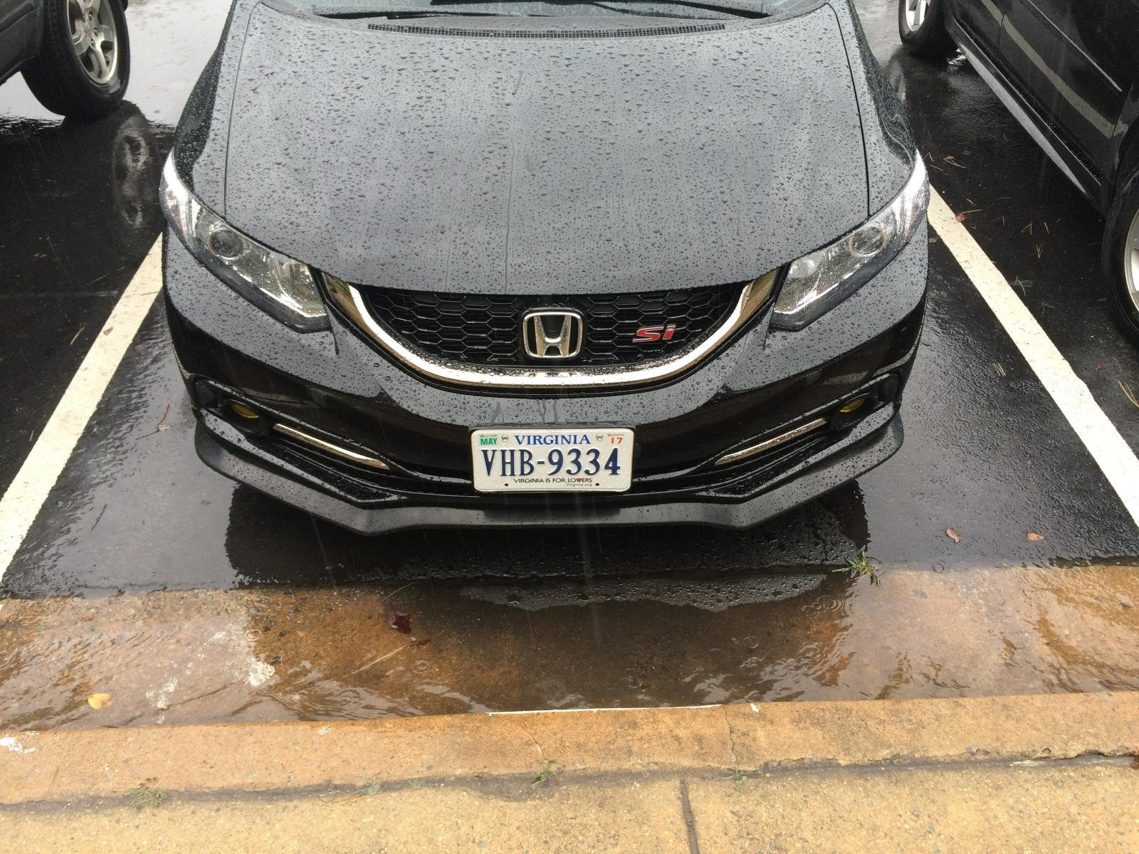 Type a front lip on 2014 civic si sedan looks really good img_2448