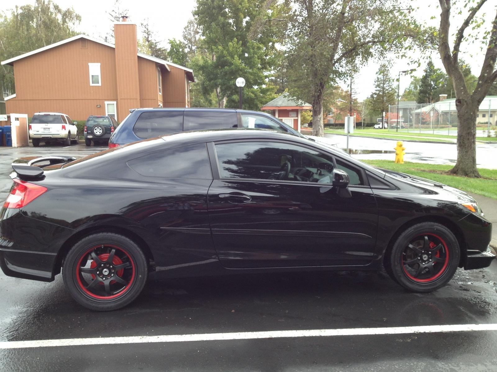 Pure 174 Honda Civic 2012 2013 Custom Style Rear Spoiler