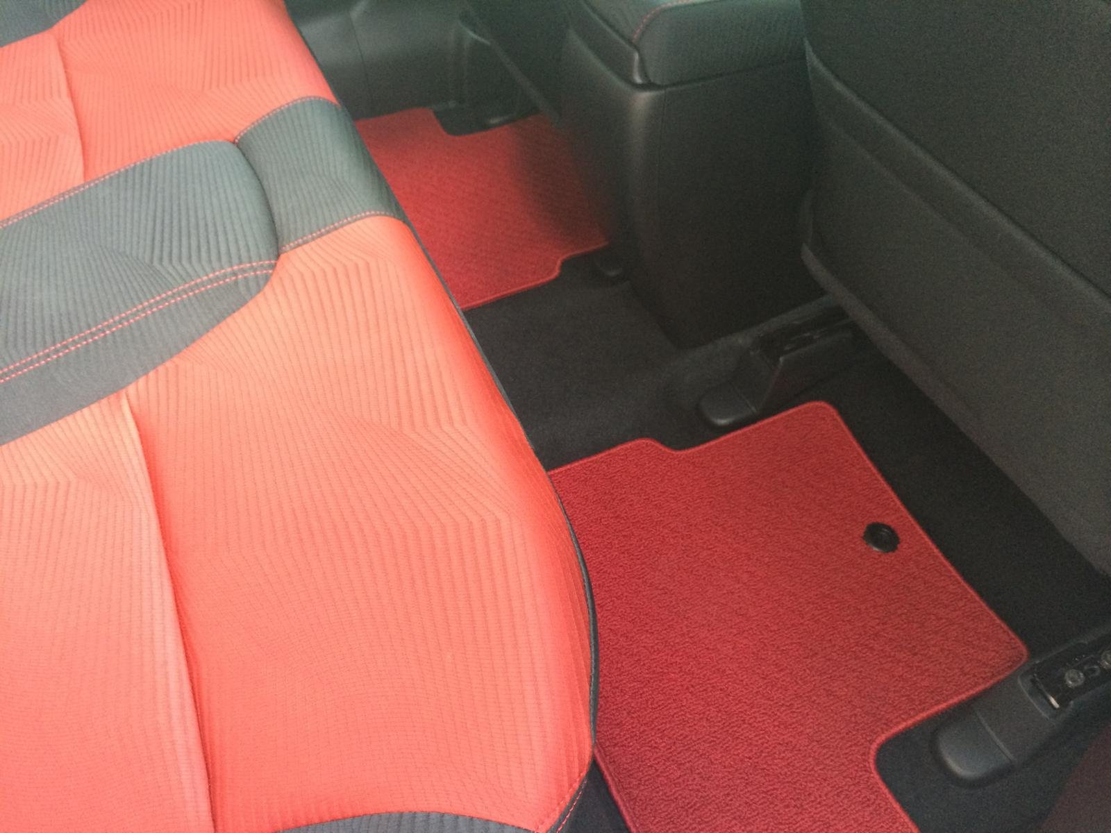 Red Hfp Floor Mats Tapis Civic 4 Portes 001