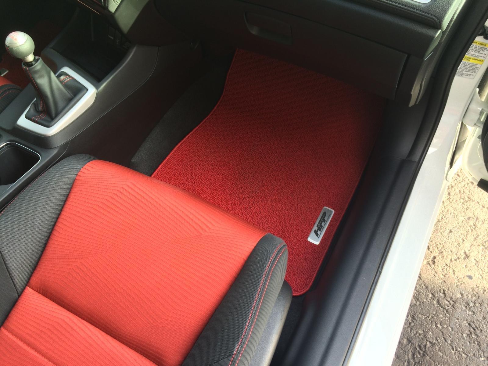 red hfp floor mats tapis hfp civic 4 portes 002